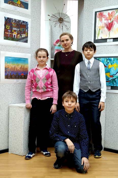 Елена Александровна со своими воспитанниками