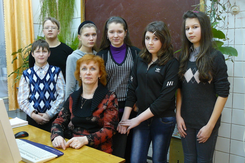 Наталья Николаевна со своими воспитанниками
