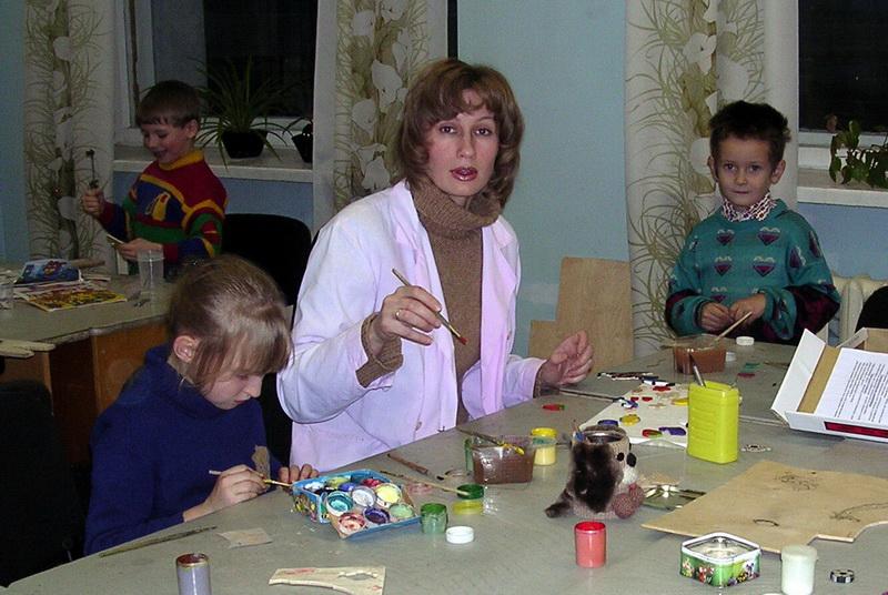 Галина Сергеевна с детьми